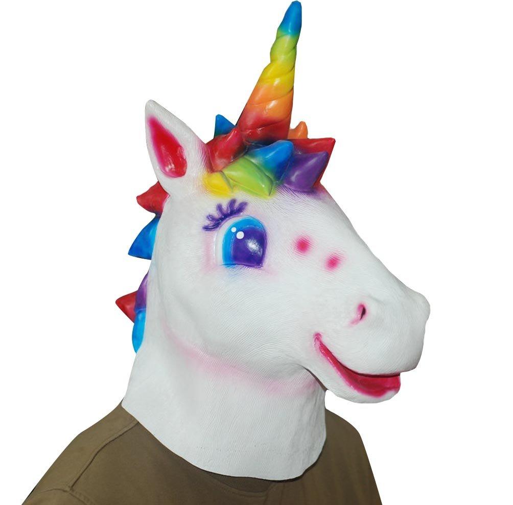 amazon com sunone11 cartoon rainbow unicorn mask head cosplay
