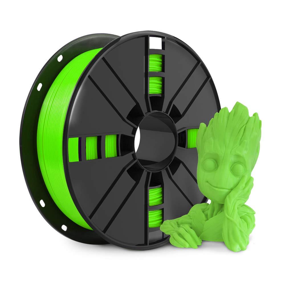 NOVAMAKER 3D Printer Filament - Green 1.75mm PLA Filament, PLA 1kg(2.2lbs), Dimensional Accuracy +/- 0.03mm