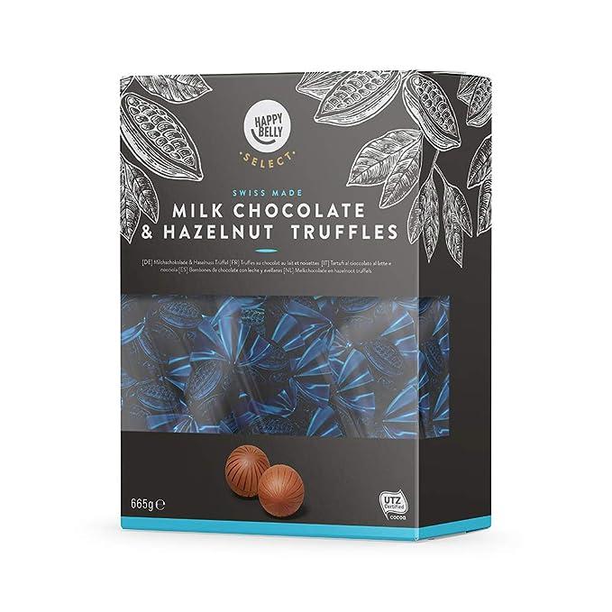 Marca Amazon - Happy Belly Select Bombones de chocolate con leche y avellanas 1x665g
