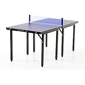 51c6cd7e8 HOMCOM Mesa Ping Pong Plegable 153x76.5x67cm + Red Tenis Mesa Exterior  Portatil Nuevo
