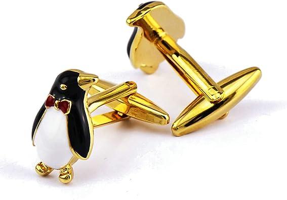 AnazoZ Gemelo Camisa Cobre Gemelos Camisa Hombre Pinguino Gemelos Hombre Oro: Amazon.es: Joyería