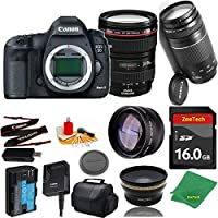 Great Value Bundle for 5D MARK III DSLR – 24-105MM L + 75-300MM III + 16GB Memory + Wide Angle + Telephoto Lens + Case