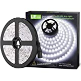 LE 12V LED Strip Light, Flexible, SMD 2835, 16.4ft Tape Light for Home, Kitchen, Party, Christmas and More, Non-Waterproof, D