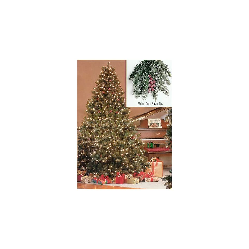 6.5 Pre Lit Full Hawthorne Fir Frosted Artificial Christmas Tree   Clear Lights
