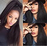 Helene Hair Natural Looking Yaki Straight Best Brazilian Virgin Hair Human Hair Lace Front Wigs with Baby Hair Human Hair Lace Wigs for Black Women ( 150% Density 16