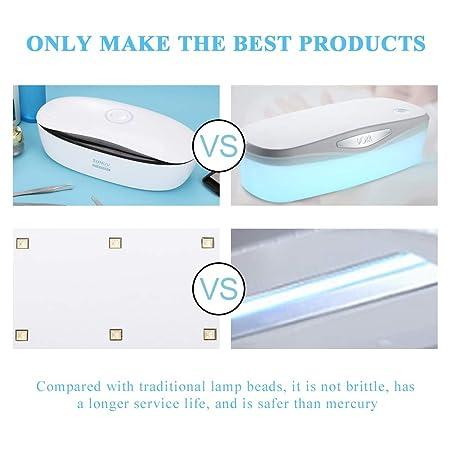 Dispositivo de desinfección UV LED Filfeel, certificación CE FDA para 99.99% Bacterias Microbios y virus Herramienta de limpieza del esterilizador para ...