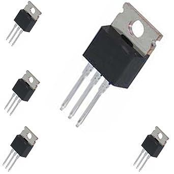 Amplificador transistor lineal y aplicación de conmutación, 5 x TIP 122 NPN