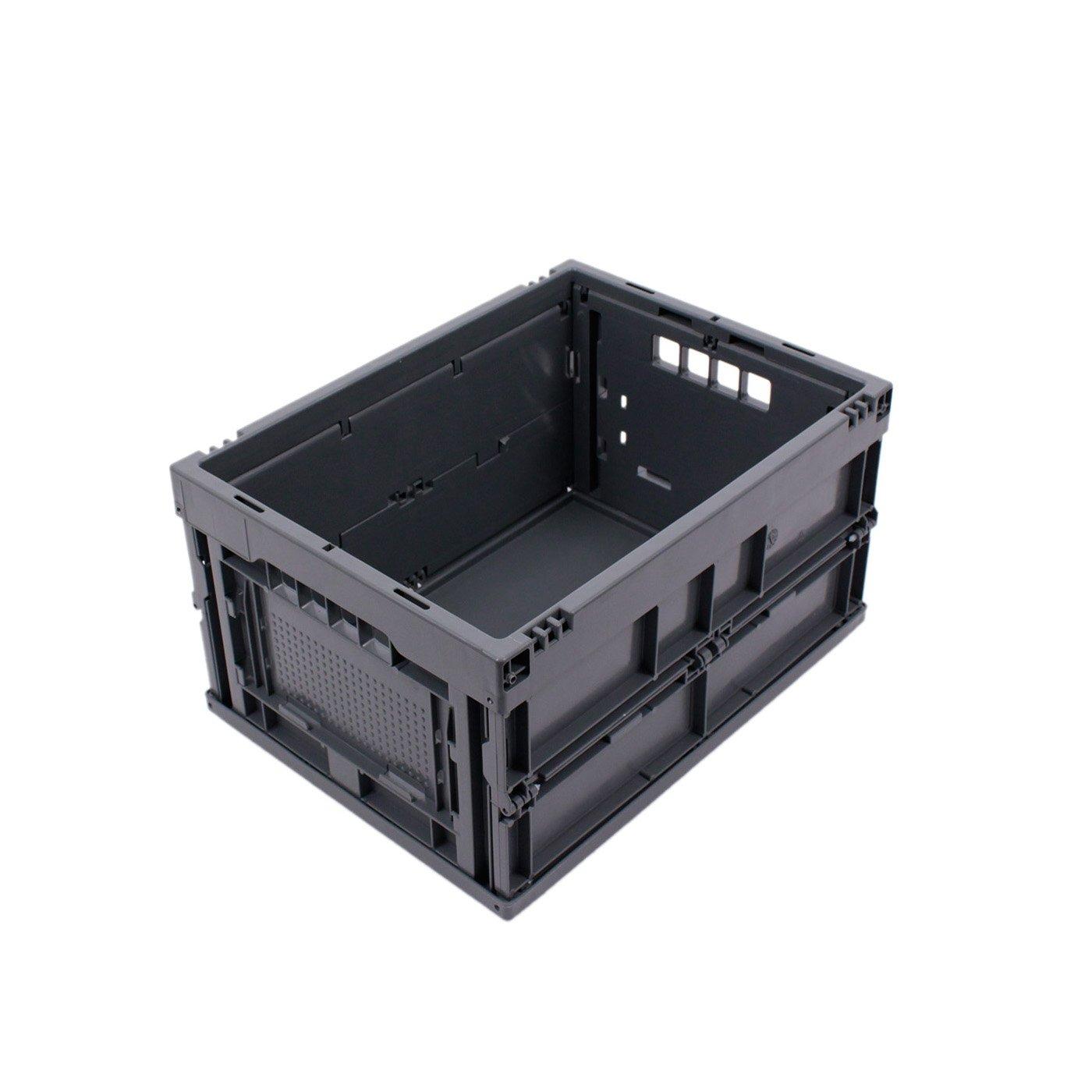 Plastikbox KLAPPBOX 20 LITER Blau Kunststoff Transportkiste max 25kg 40x30x22 cm stabile Faltbox Made in Germany Transportbox kleine