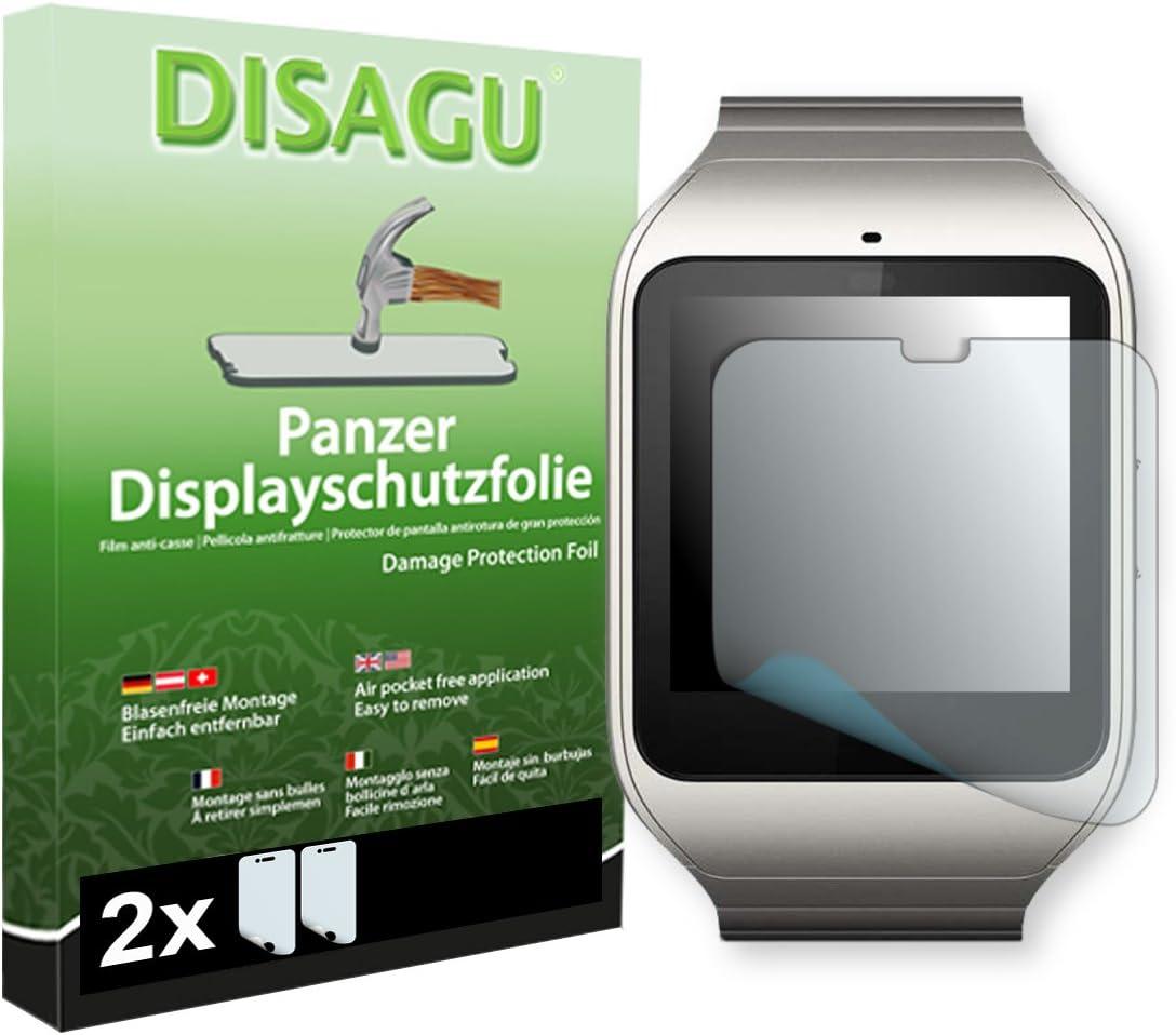 DISAGU 2 x Lámina blindada para pantallas Sony SmartWatch 3 contra ...