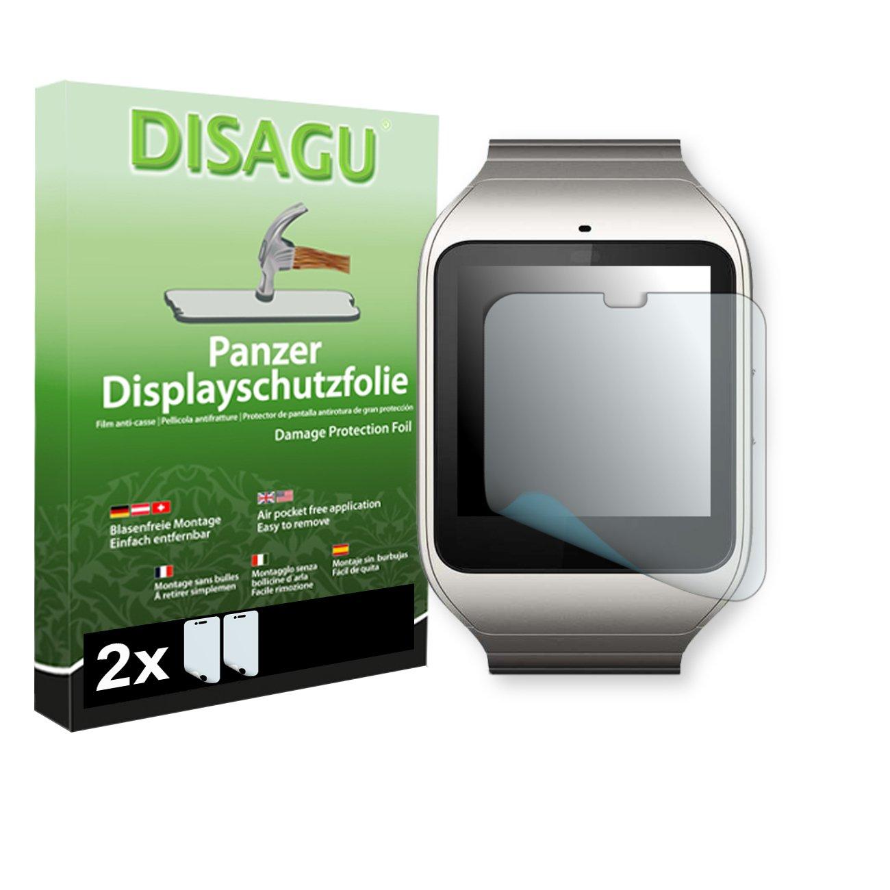 DISAGU 2 x Lámina blindada para pantallas Sony SmartWatch 3 ...