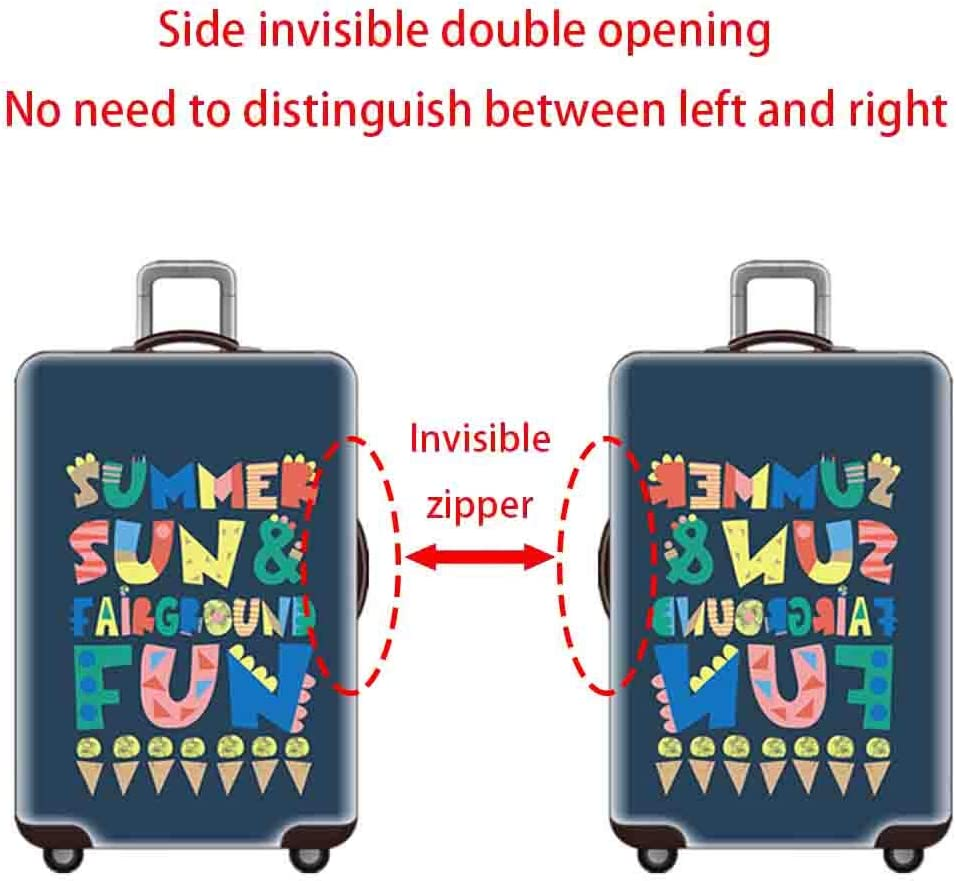 Suitcase Cover Thickened Wear-Resistant Pull Bar Case Cover 18-32 Inch Suitcase Breathable Anti-Theft Dust Cover for Men and Women