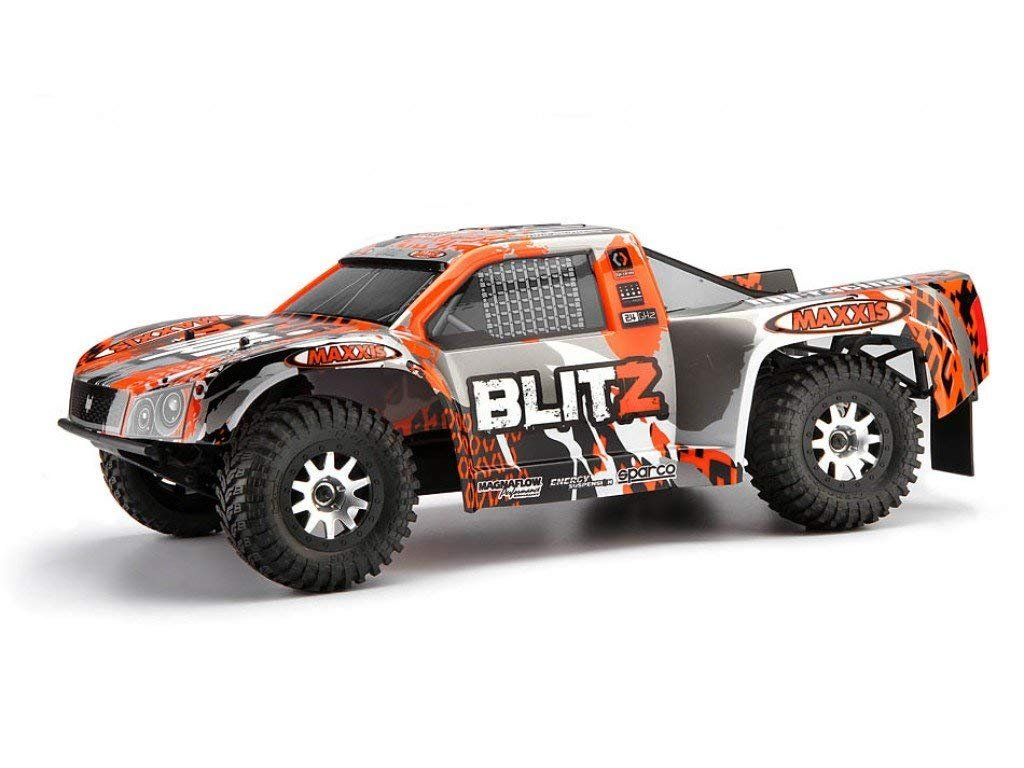 Hpi Racing 105832 Rtr Blitz Short Course Truck With Traxxas Screensaver Used Slash For Sale Skorpion Body Toys Games