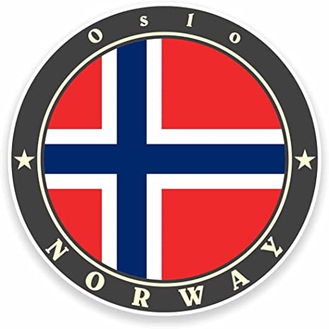2 x 10cm//100mm Oslo Norway Vinyl Sticker Decal Laptop Car Travel Luggage Label Tag #9500