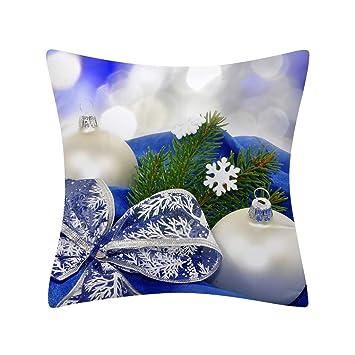 Christmas Snowman Pillow Case Polyester Home Sofa Car Throw Cushion Cover Decor