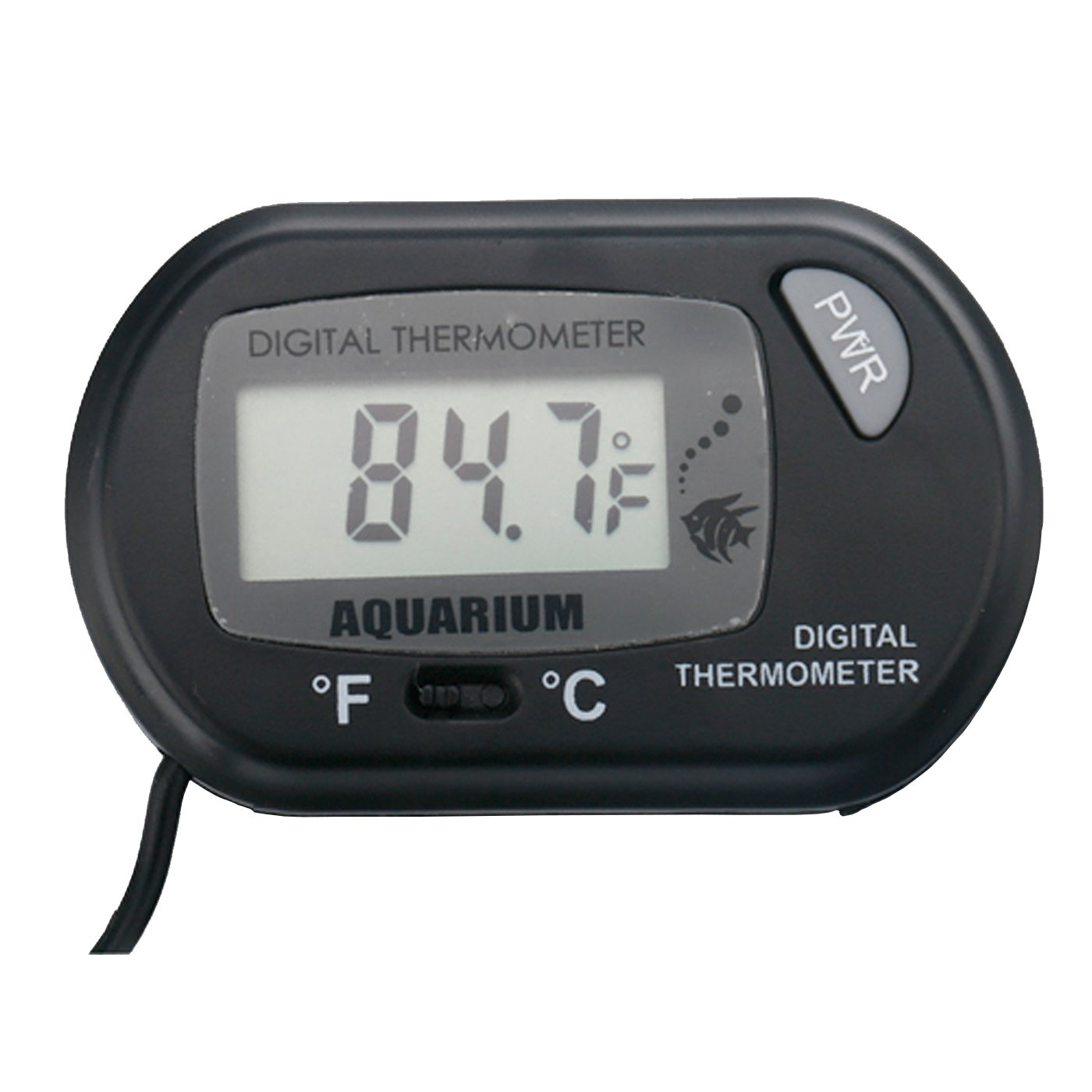 Professional Digital Thermometer for Hydroponics & Aquaculture , Amphibian & Reptile Terrariums , Freshwater Tropical Fish & Saltwater Fish Aquariums , Black