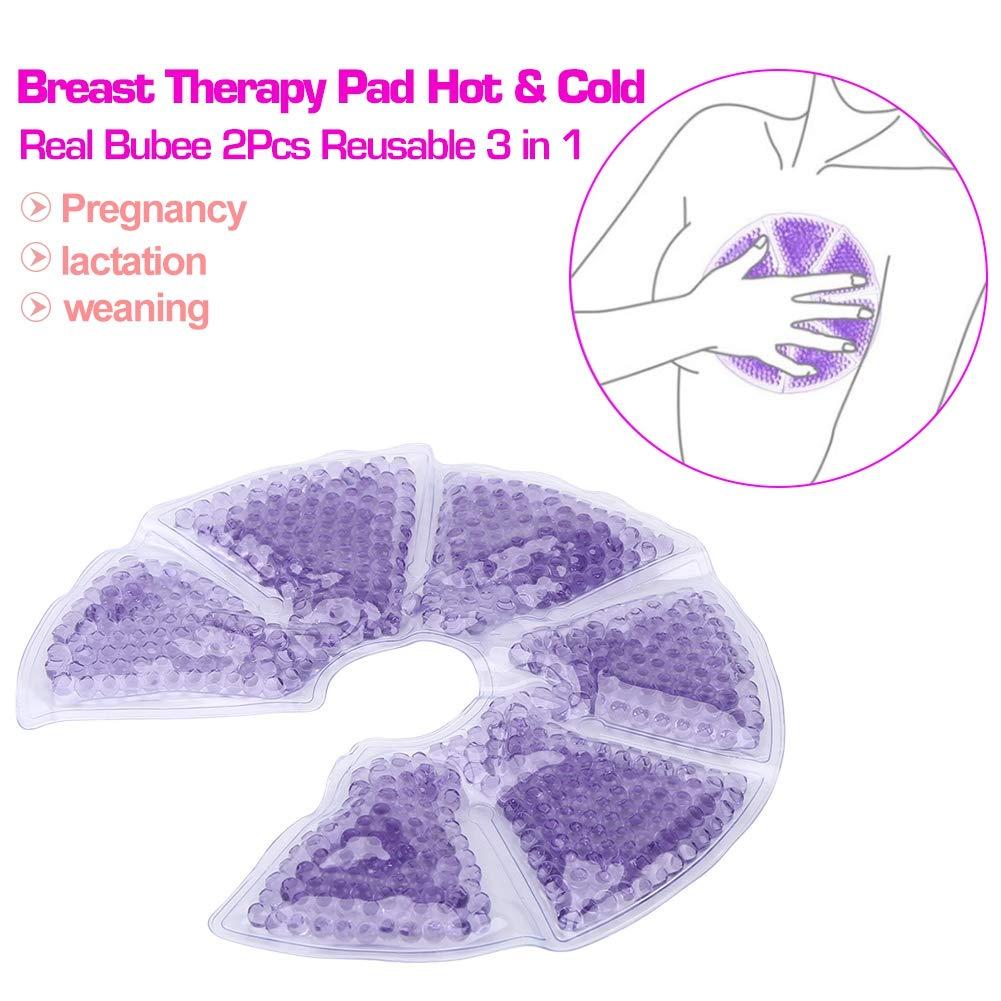 Stillkissen 2tlg Wiederverwendbare 3 in1 Br/üste Thermal Gel Pads Brusttherapie Gel-Pads Kit Hot Cold f/ür Stillen von M/üttern
