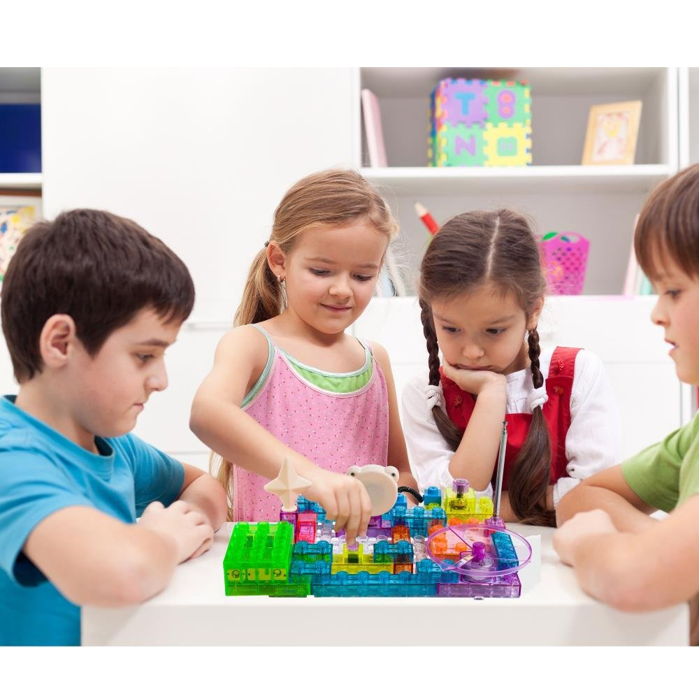 Dimple Dc13994 Lectrixs Electronic Building Blocks 120 Snap Circuits Jr Select By Elenco Electronics Inc On Barstons Childs Projects Light Up Diy Stacking Toys With Kid Friendly 44 Piece Set