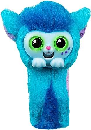 Wrapples Pequeño juguete para mascotas vivas, muñeca, mono, interactivo, amigos, conversación, rosa princeza, banda de esquí, lindo juguete, correa de muñeca, regalo de Navidad