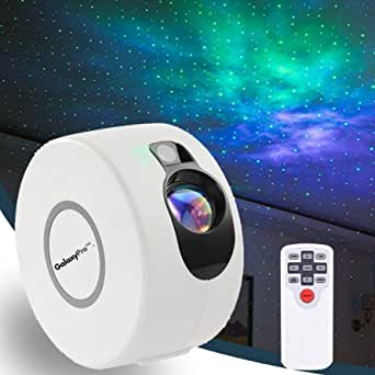 GalaxyPro™ Star Night Light Galaxy Projector 7 in 1 Remote Control LED Nebula Cloud Living Bedroom Decorations Home Theater Lightning Mood Ambient Lamps Baby Kids Game Décor Gift White