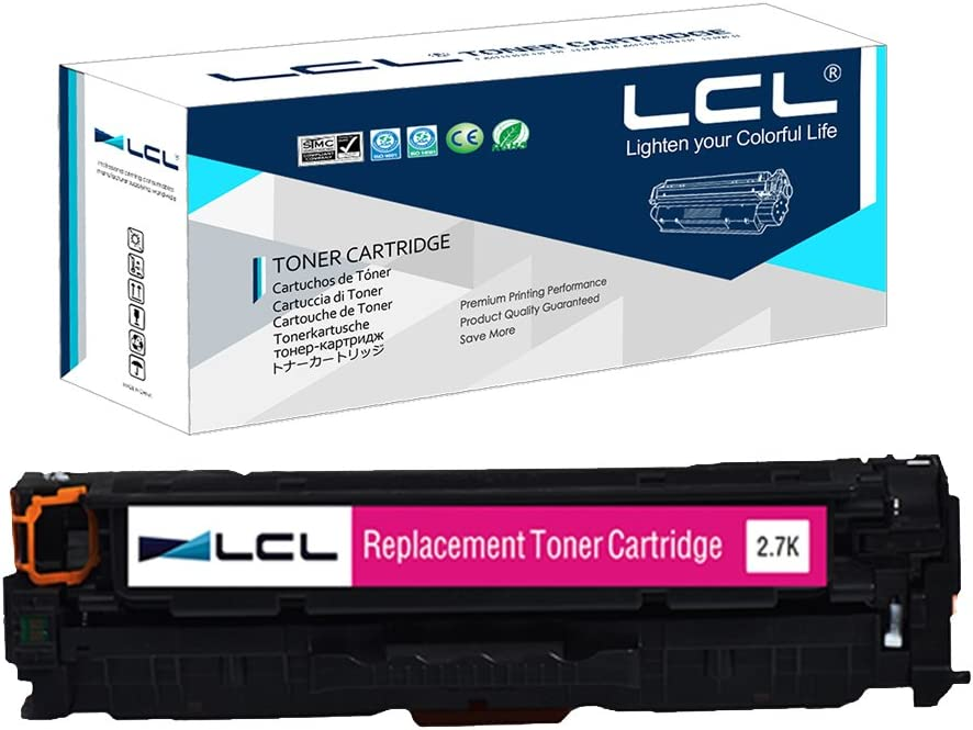 LCL Remanufactured Toner Cartridge Replacement for HP 304A 312A CC533A CF383A M476dn MFP/M476dw MFP/M476nw MFP CP2020/CP2025/CM2320 (1-Pack Magenta)