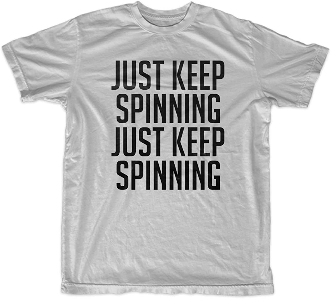 Teequote Just Keep Spinning Gracioso Summer Hombres T-Shirt ...