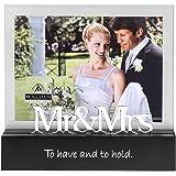 Malden International Designs Celebrated Moments Mr. and Mrs.Black Wood Picture Frame, 5x7, Black