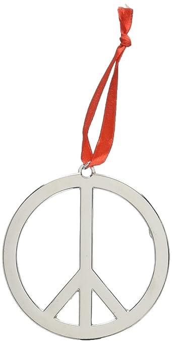 Peace Christmas Sign.Fun Express Set Of Six 6 Beautiful 3 Metal Peace Sign Christmas Tree Ornaments Holiday Decor Peace Symbol W Hanger
