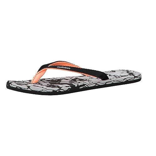 16edd9c41bb adidas Sandalias Mujer Eezay Mármol - Core Negro Blanco Flash Naranja