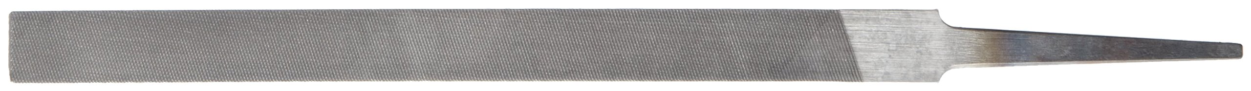 Nicholson Pillar File, Swiss Pattern, Double Cut, Rectangular, #0 Coarseness, 6'' Length