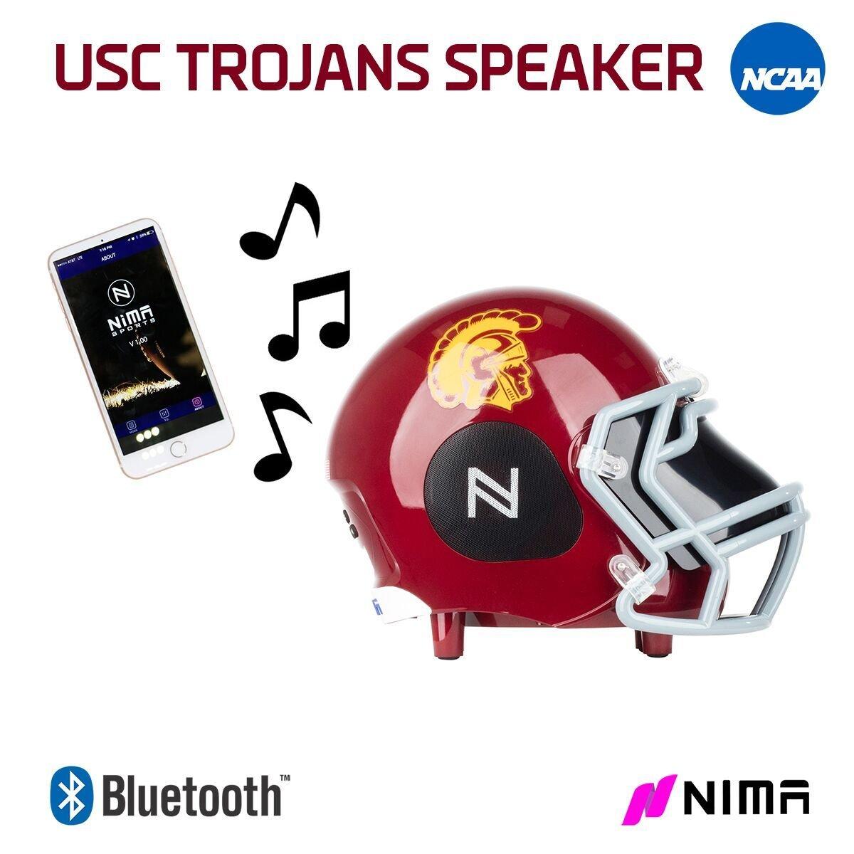 Nima Athletics NCAA Football USC Trojans Wireless Bluetooth Speaker. Officially Licensed Portable Helmet Speaker by NCAA College Football - Medium