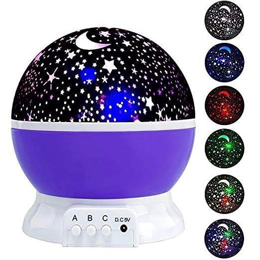 LED Proyector de Luz Nocturna Estrellas Starry Sky Moon Lamp USB ...