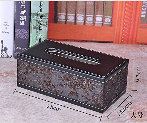 Door Decorative Continental - CLG-FLY Continental creative napkin tissue box leather Book box boxes living room motor home can be customized,3