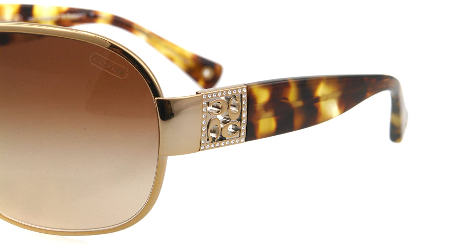 799e768a1499 Coach Women's Gradient HC7005B-901813-35 Gold Shield Sunglasses: Coach:  Amazon.ca: Sports & Outdoors