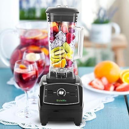 2200 W electronic Blender, licuadora para casa Muñeco kostkamm, procesador alimentos Licuadora Smoothie Licuadora Negro: Amazon.es: Hogar