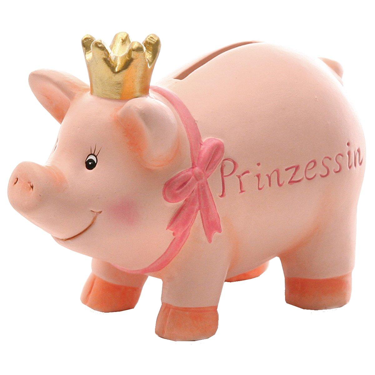 Geschenk zur Geburt eines M/ädchens Annastore Sparschwein Prinzessin mit Krone