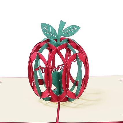 Amazon Com Paper Spiritz Pop Up Christmas Card 3d Laser Cut
