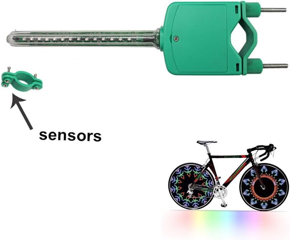 EverTrust(TM 45 Patrones RGB Coloridos radios de Rueda para Bicicleta de montaña, Carretera, MTB, 14 Luces LED, luz de señal de buje de Rueda de Ciclismo: Amazon.es: Deportes y aire libre