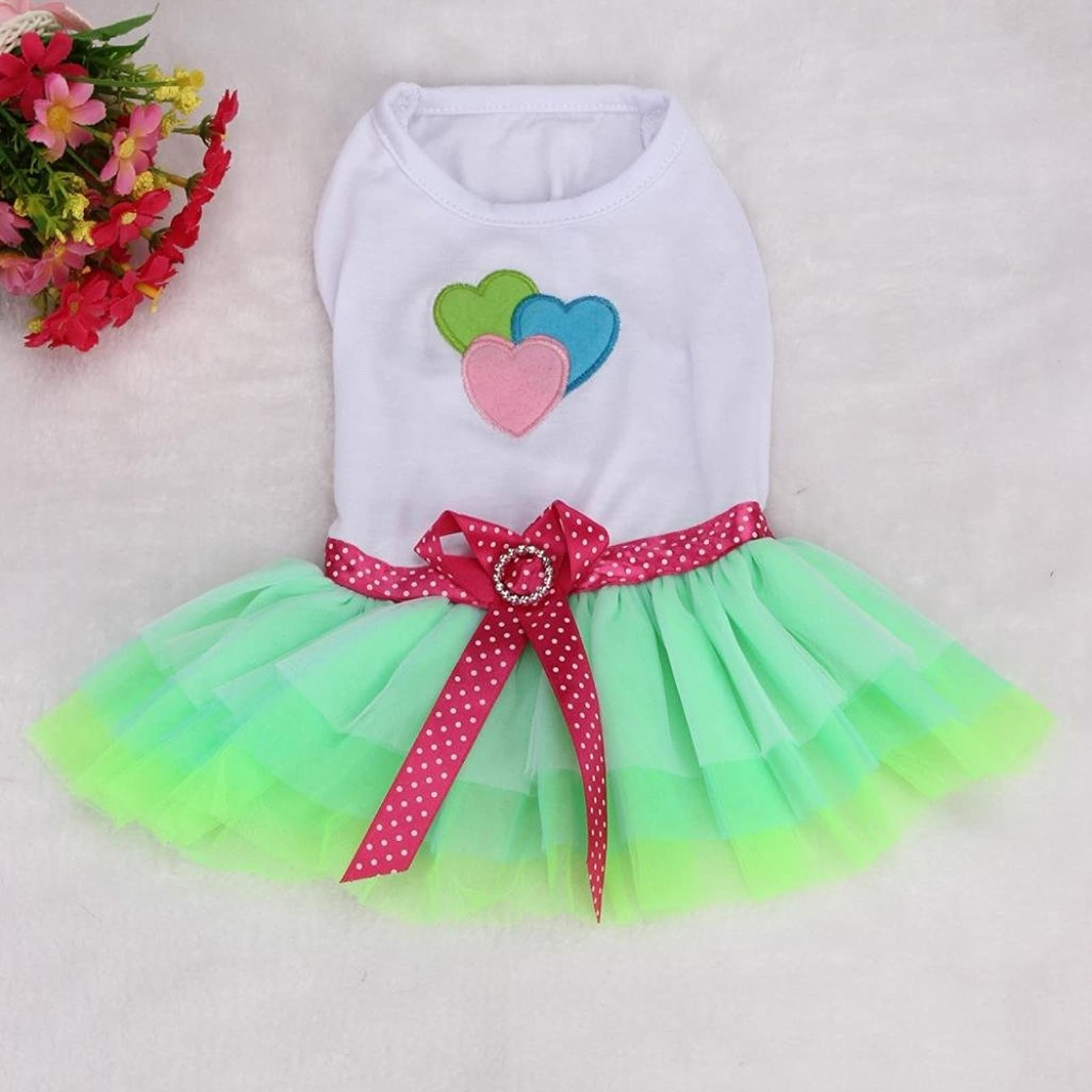 OutTop Girl Dog Dress Lace Princess Tutu WSM60224084S_YD - 1