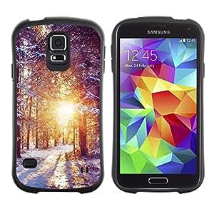 Suave TPU Caso Carcasa de Caucho Funda para Samsung Galaxy S5 SM-G900 / Winter Dawn / STRONG