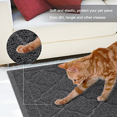 ALTMAN Cat Litter Mat Non-Slip Jumbo Size(38'' x 23'') Kitty Mat, Traps Litter from Box and Paws, Soft on Sensitive Paws and Easy to Clean by ALTMAN (Image #8)