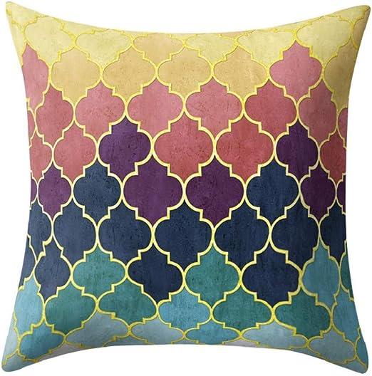 Multicolor Peach Skin Pillow Cover Sofa Waist Throw Cushion Case Home Decor US