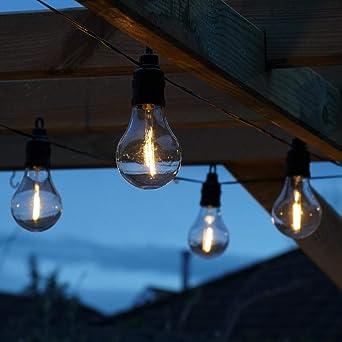 Guirlande électrique à pile Blanc chaud 10 ampoules