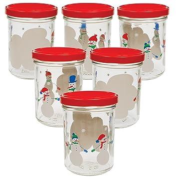 Weihnachtsgeschenke Für Familie.6 Einmachgläser Schneemann Familie 219 Ml Mit Deckel Marmeladengläser Für Weihnachten Weihnachtsgeschenke Geschenke Aus Der Küche