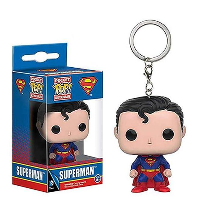 Geschenk Funko Tasche POP Schlüsselanhänger Aquaman Superman Justice League
