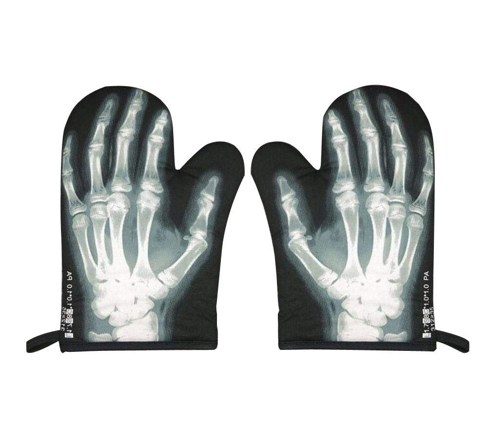 High Quality Heat Insulation Gloves-Oven Mitts, X-ray Perspective (Pair) Generic