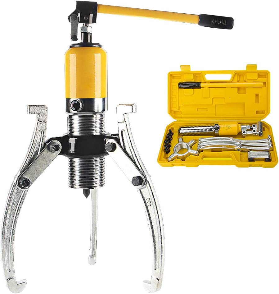 CGOLDENWALL 5T Extractor Hidráulico Integral Kit de Puller Hydraulic con 2/3 Garras Reemblazable Ideal para Uso Vertical/Horizontal