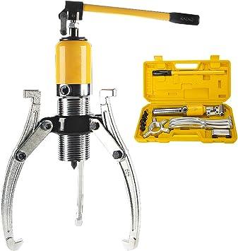 5T CGOLDENWALL Extractor de Rodamientos Hidr/áulico Integral Kit de Puller Hydraulic con 2//3 Garras Reemblazable Ideal para Uso Vertical//Horizontal