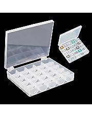Naisidier 25 cuadrícula Clara máquina de Coser Bobina Caja de Almacenamiento Hilo de plástico bobinas Titular Organizador 1pc
