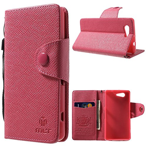 Leather Wallet Xperia Compact Magenta