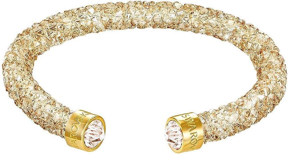 Swarovski Crystaldust Cuff, Golden Crystal, S 5255897